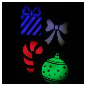 STOCK Proiettore LED Natale da esterni multicolore simboli natalizi s3