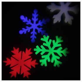 STOCK Proiettore luci Natale fiocchi neve multicolor da esterni s1