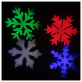 STOCK Proiettore luci Natale fiocchi neve multicolor da esterni s3
