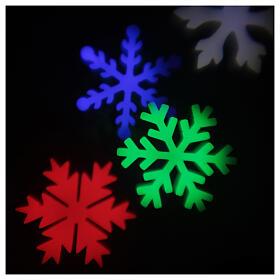 STOCK Proiettore luci Natale fiocchi neve multicolor da esterni s5