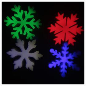 STOCK Proiettore luci Natale fiocchi neve multicolor da esterni s7