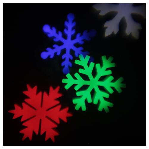 STOCK Proiettore luci Natale fiocchi neve multicolor da esterni 5