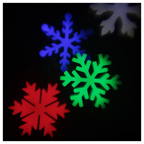STOCK Projetor LED Natal flocos de neve multicoloridos para interior/exterior 5