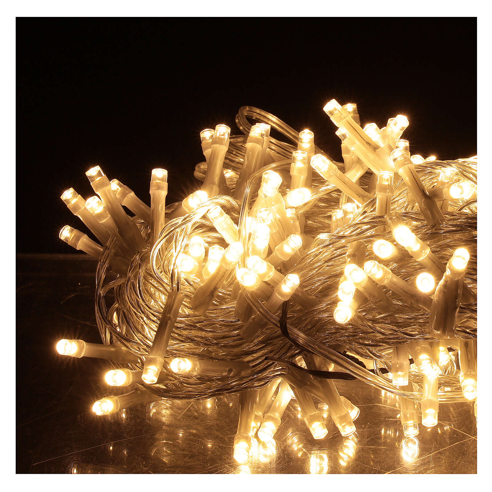Guirlande 180 LED blanc chaud lumières Noël jeux minuteur intérieur extérieur 3