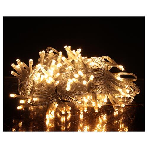 Guirlande 180 LED blanc chaud lumières Noël jeux minuteur intérieur extérieur 1