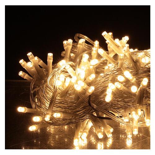 Guirlande 180 LED blanc chaud lumières Noël jeux minuteur intérieur extérieur 2