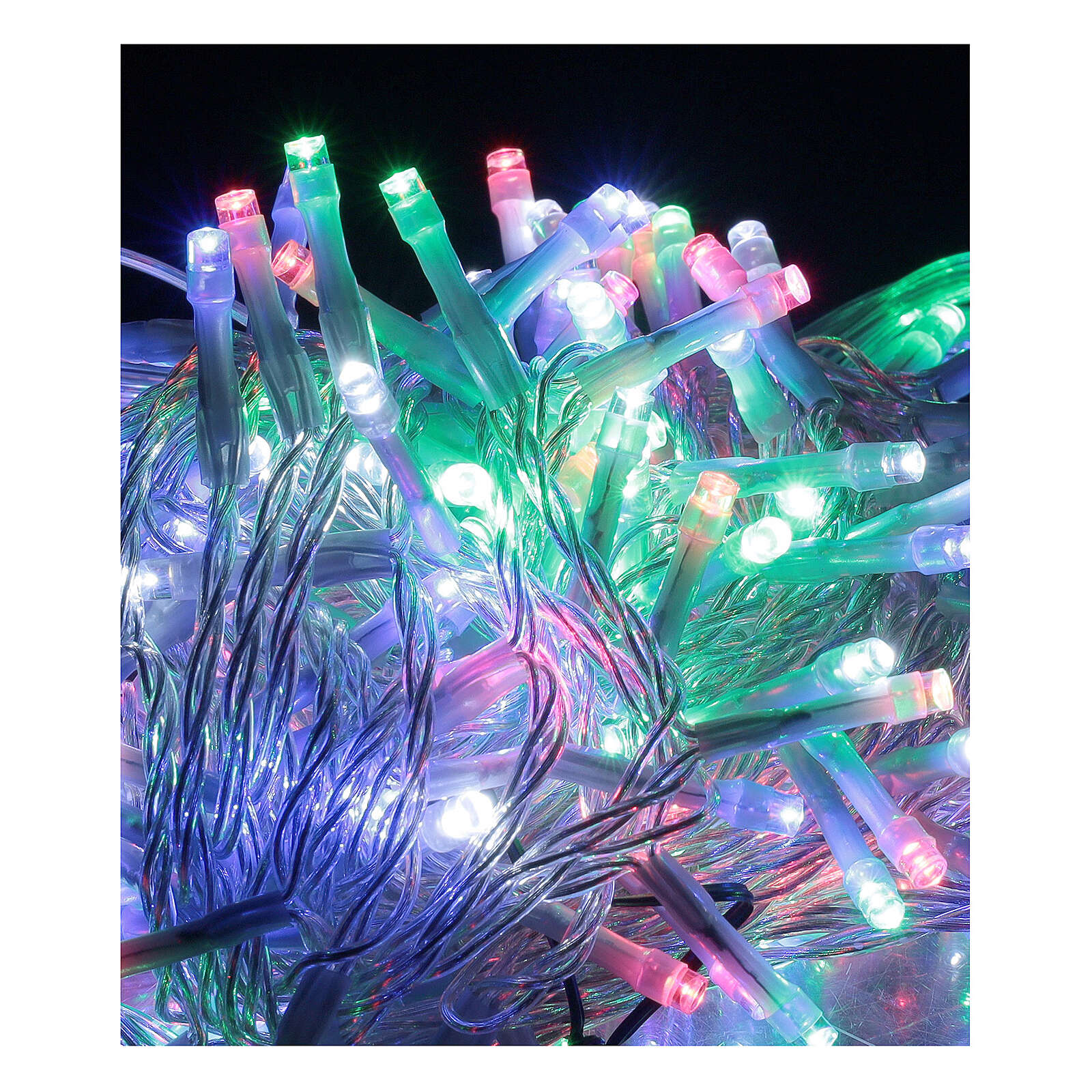 Christmas string lights multi-color 180 LEDs 9 m light options indoor outdoor 3
