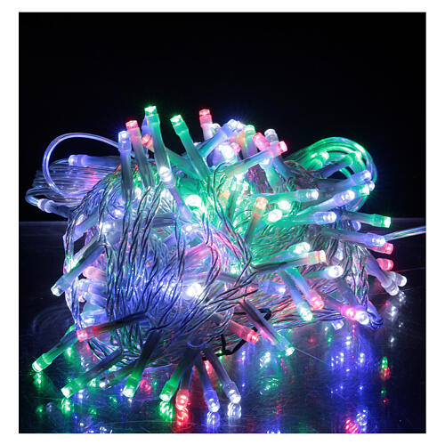 Christmas string lights multi-color 180 LEDs 9 m light options indoor outdoor 1