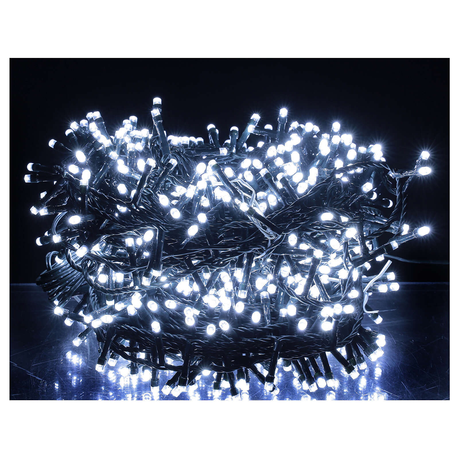 Christmas lights 750 LEDs cool white 37.5 m light options indoor outdoor 3