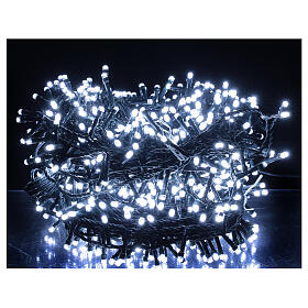 Christmas lights 750 LEDs cool white 37.5 m light options indoor outdoor s1
