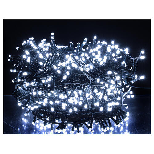 Christmas lights 750 LEDs cool white 37.5 m light options indoor outdoor 1