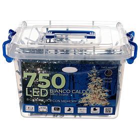 Catena luci 750 led bianco caldo giochi luce interno esterno 37,5 m s3
