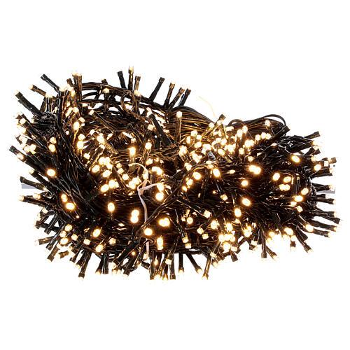 String lights 750 LEDs warm white light shows indoor outdoor 37.5 m 4