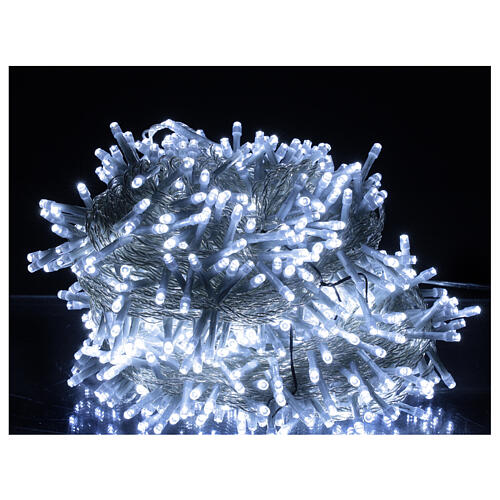 String lights 750 LEDs cold white clear cable indoor outdoor 37.5 m 1