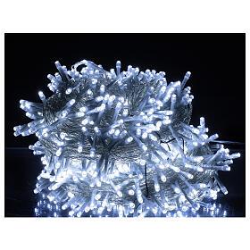 Catena luminosa 750 led bianco freddo cavo trasparente int est 37,5 m s1