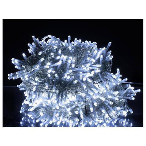 Catena luminosa 750 led bianco freddo cavo trasparente int est 37,5 m 1