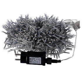 String lights 750 LEDs warm white clear wire indoor outdoor 37.5 m s5