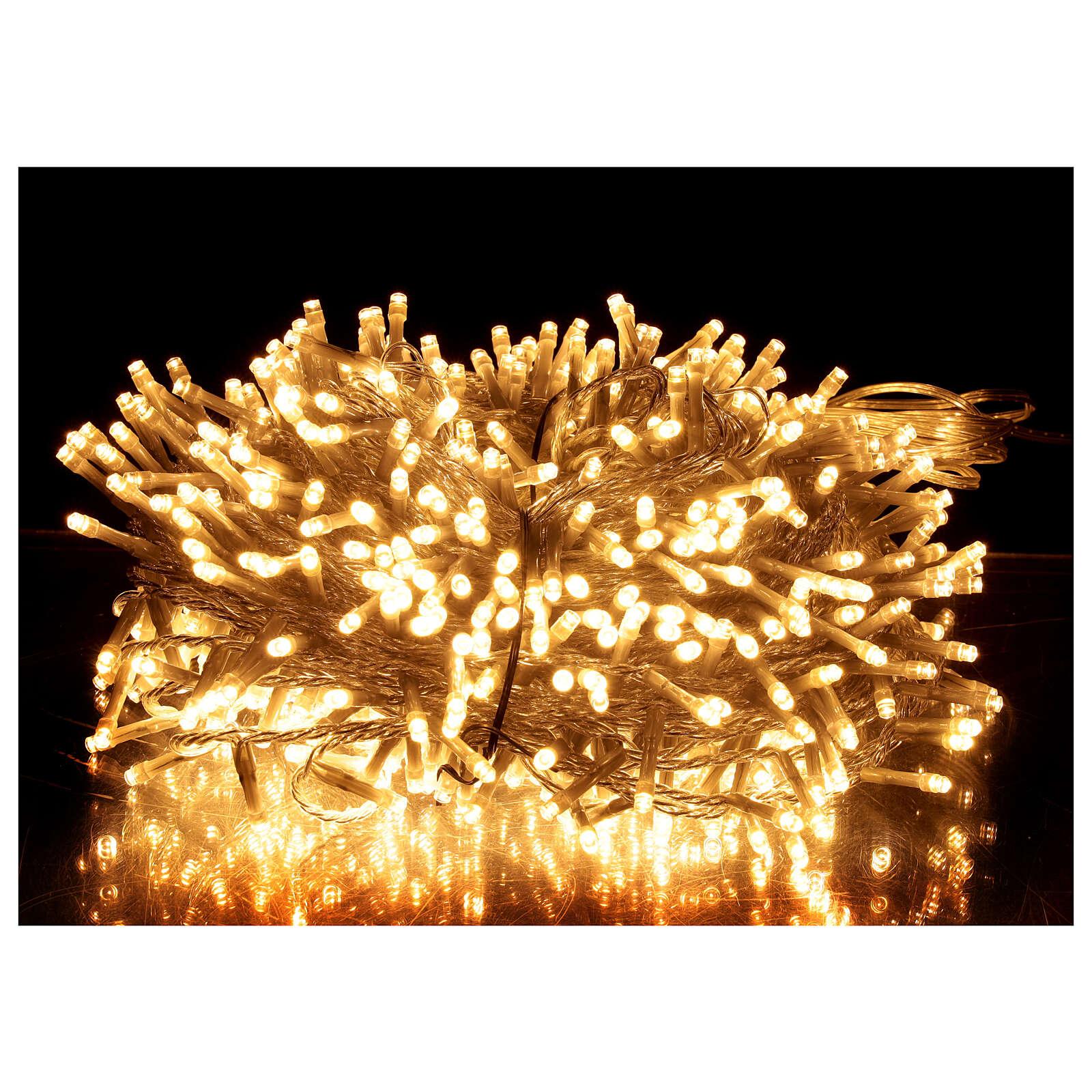 Guirlande lumineuse Noël 750 LED blanc chaud câble transparent intérieur extérieur 37,5 m 3