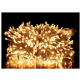 Guirlande lumineuse Noël 750 LED blanc chaud câble transparent intérieur extérieur 37,5 m s1