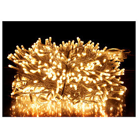 String lights 750 LEDs warm white clear wire indoor outdoor 37.5 m s1