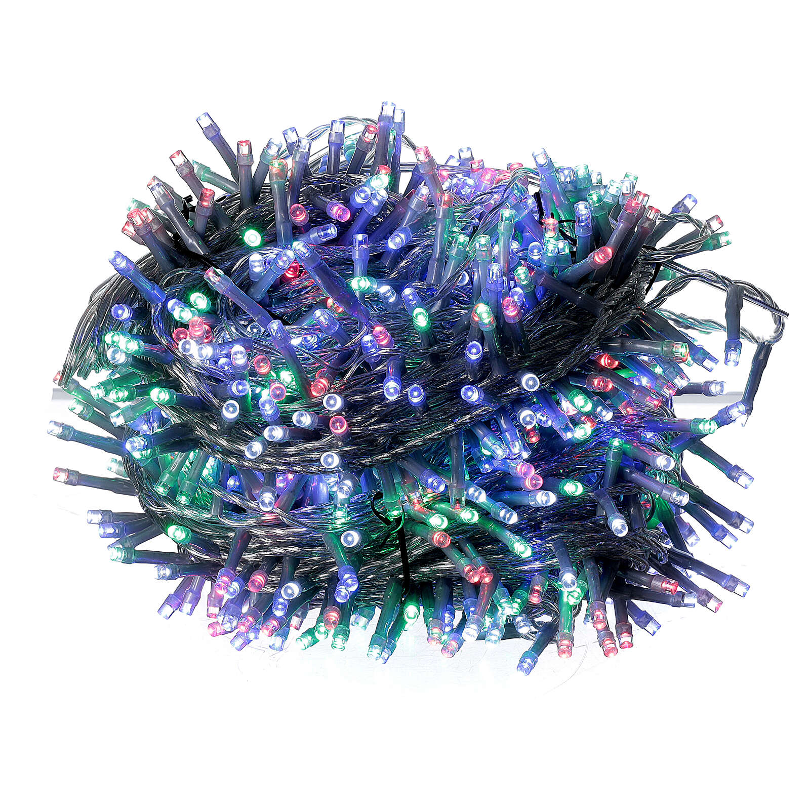 Christmas lights 750 multi-colour LEDs clear cable indoor outdoor 37.5 m 3