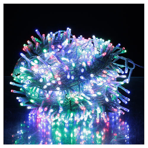 Christmas lights 750 multi-colour LEDs clear cable indoor outdoor 37.5 m 1