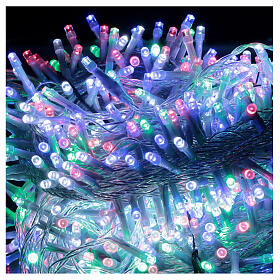 Luce Natale 750 led multicolor cavo trasparente int est 37,5 m s2