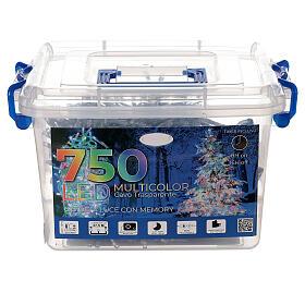 Luce Natale 750 led multicolor cavo trasparente int est 37,5 m s4