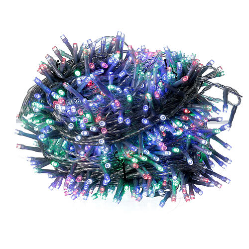 Christmas lights 750 multi-color LEDs clear cable indoor outdoor 37.5 m 3