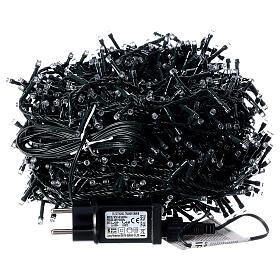 Guirlande lumineuse LED 1000 lumières blanc froid câble noir 50 m INT/EXT s5