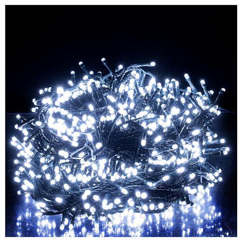 Guirlande lumineuse LED 1000 lumières blanc froid câble noir 50 m INT/EXT 1