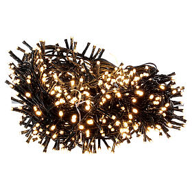 LED Christmas lights 1000 warm white black wire 50 m indoor outdoor s3