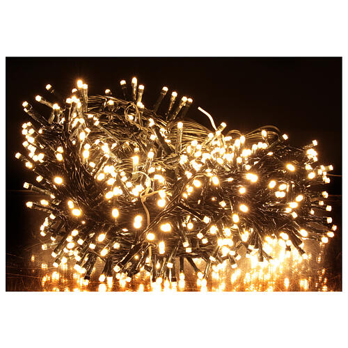 LED Christmas lights 1000 warm white black wire 50 m indoor outdoor 1