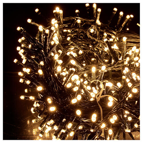 LED Christmas lights 1000 warm white black wire 50 m indoor outdoor 2