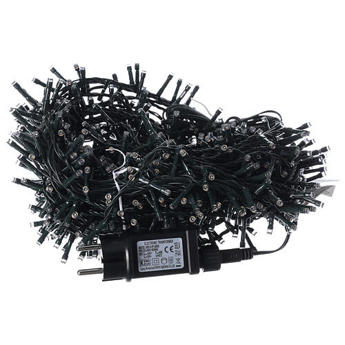 LED Christmas lights 1000 warm white black wire 50 m indoor outdoor 5