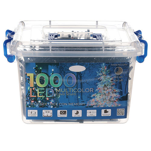 Multi-colour Christmas lights 1000 outdoor indoor 50 m 4