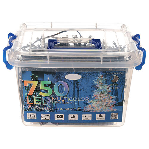 Multi-colour Christmas lights 1000 outdoor indoor 50 m 10