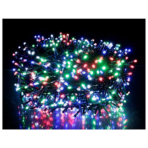 Luz Navidad cadena 1000 led multicolor ext int 50 m 1