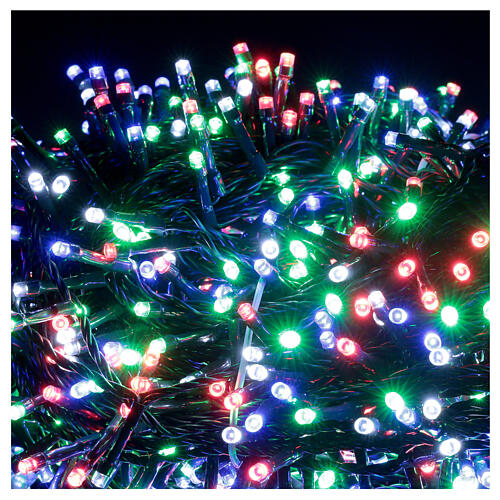 Luz Navidad cadena 1000 led multicolor ext int 50 m 2