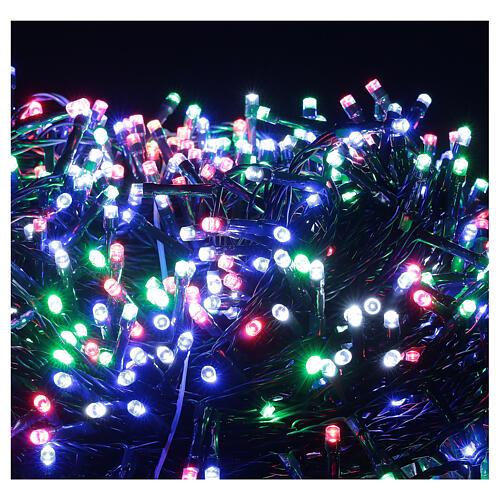 Luz Navidad cadena 1000 led multicolor ext int 50 m 8