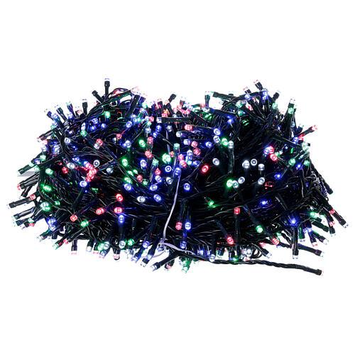 Luz Navidad cadena 1000 led multicolor ext int 50 m 9