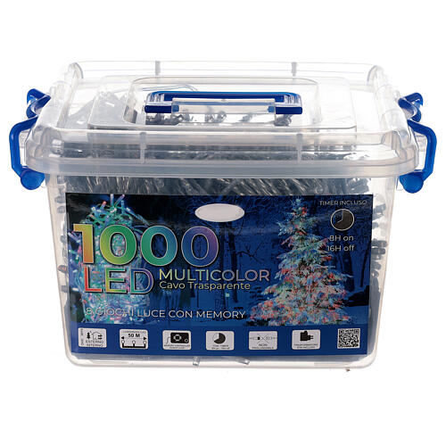 Christmas lights 1000 multi-colour LEDS 50 m indoor outdoor 4