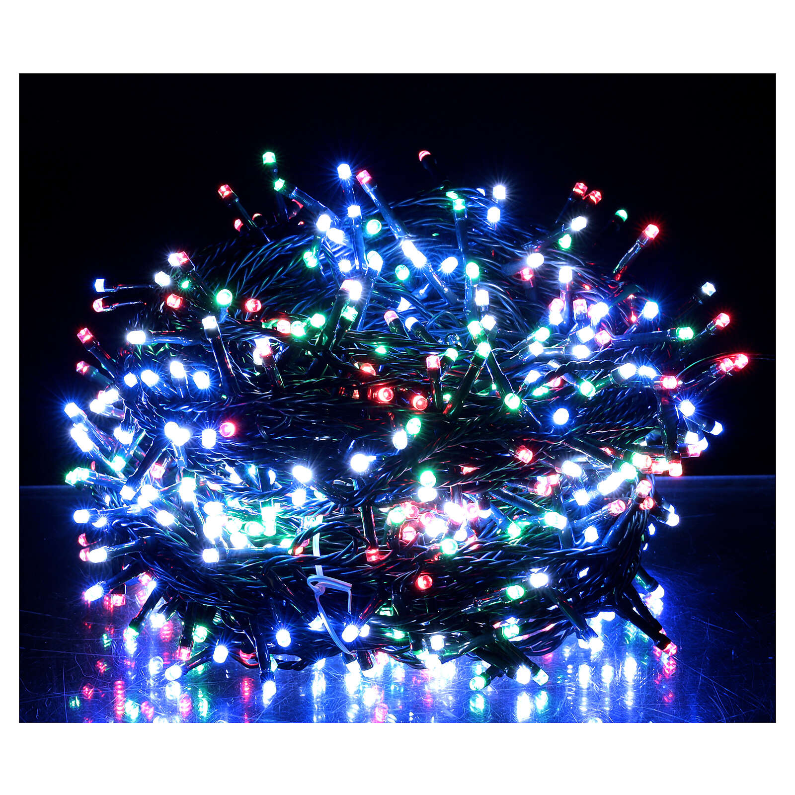 LED Christmas lights 800 multi-colour 2 in 1 dark wire 56 m indoor outdoor 3