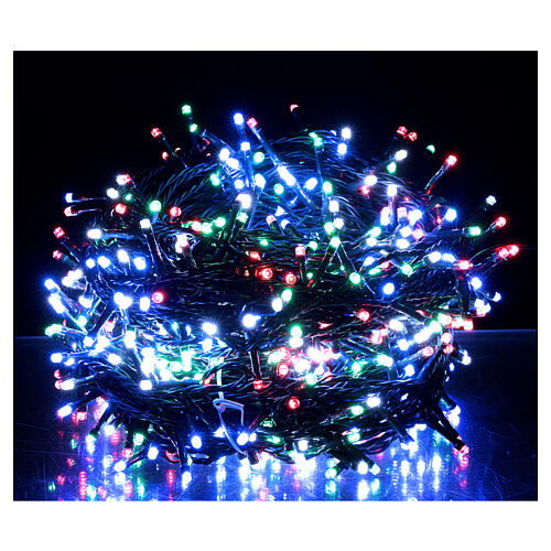 LED Christmas lights 800 multi-colour 2 in 1 dark wire 56 m indoor outdoor 1