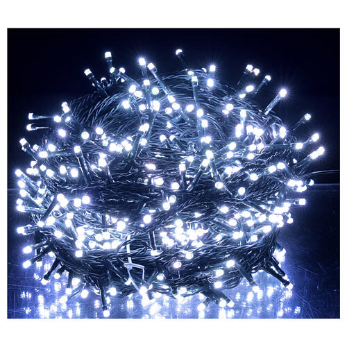 LED Christmas lights 800 multi-colour 2 in 1 dark wire 56 m indoor outdoor 2