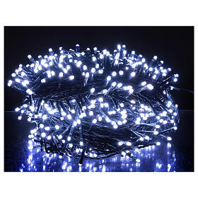 Guirlande Noël 800 LED blanc froid chaud 2-en-1 56 m int/ext s2
