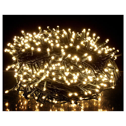 Guirlande Noël 800 LED blanc froid chaud 2-en-1 56 m int/ext 1