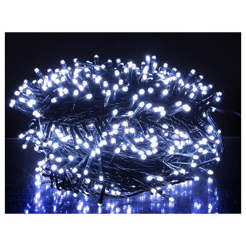 Guirlande Noël 800 LED blanc froid chaud 2-en-1 56 m int/ext 2