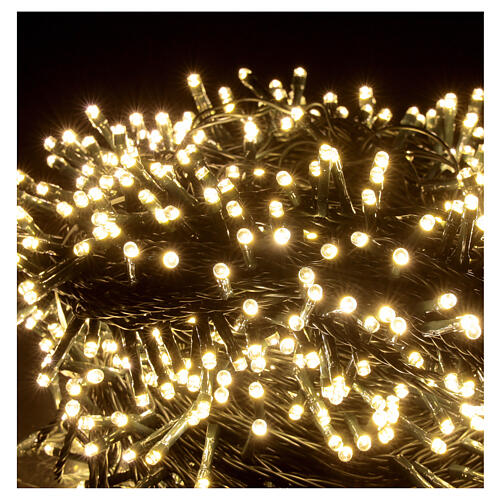 Guirlande Noël 800 LED blanc froid chaud 2-en-1 56 m int/ext 3