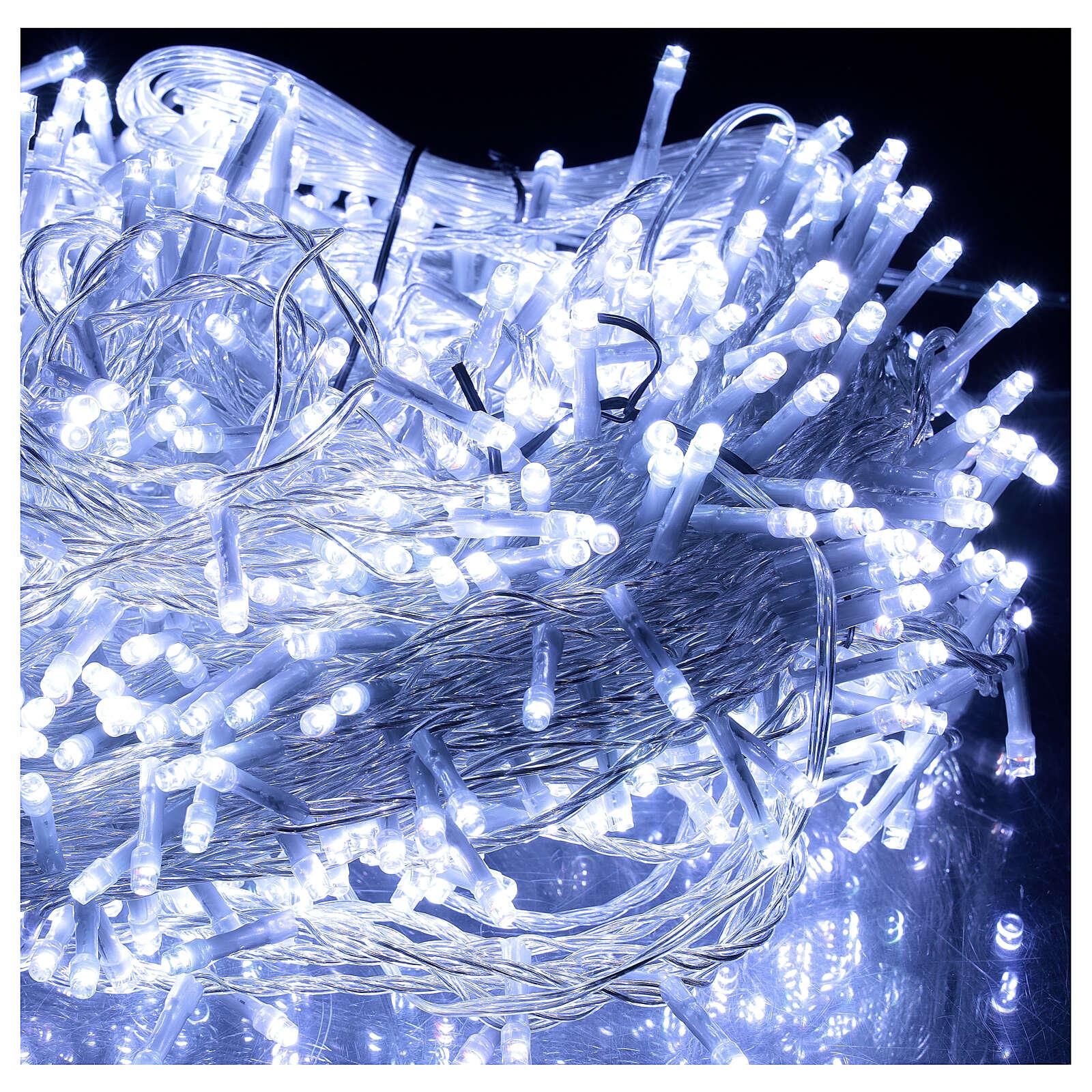 Catena luminosa 800 led 2 in 1 bianco freddo multicolor 56 m int est 3